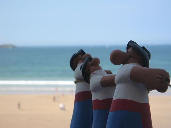 Vascos en la playa