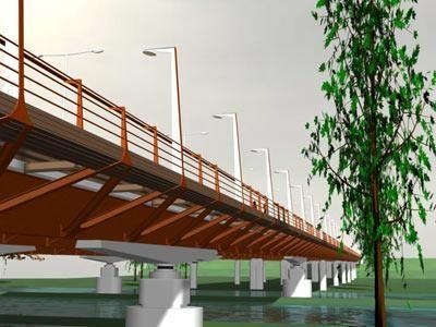 Im�genes virtuales del puente sobre el r�o Iregua