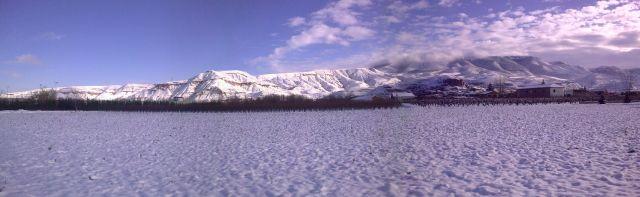 paisaje nevado Albelda