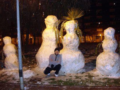 megamuñecos de nieve