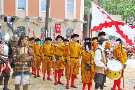 Llegada al Campo de Batalla de las Milicias de Logroño