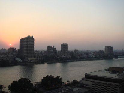 Atardecer en El Cairo
