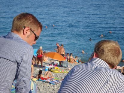 Diálogo en la playa
