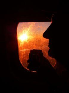 Atardecer desde el avión