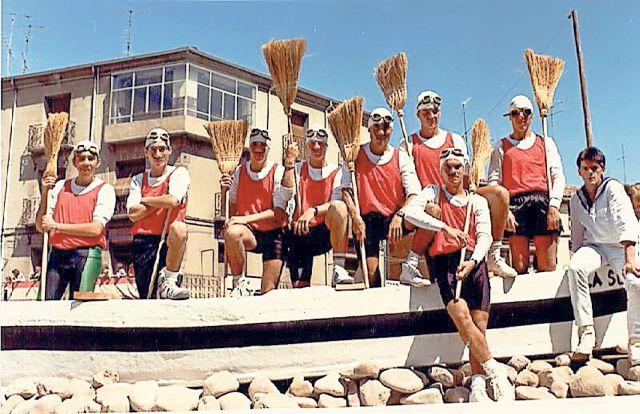 Traineras a la riojana en Calahorra
