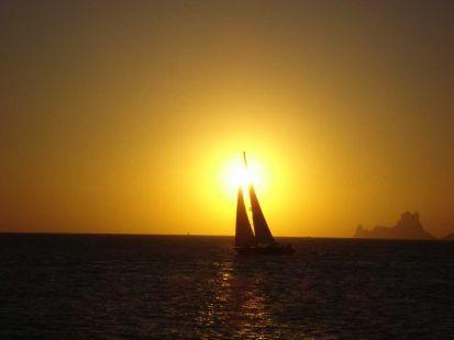 Puesta de sol en Esvedrá