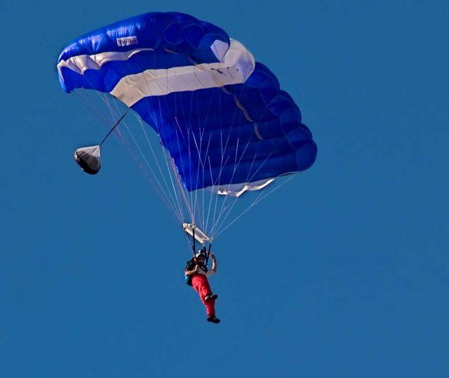 Paracaidista en Haro