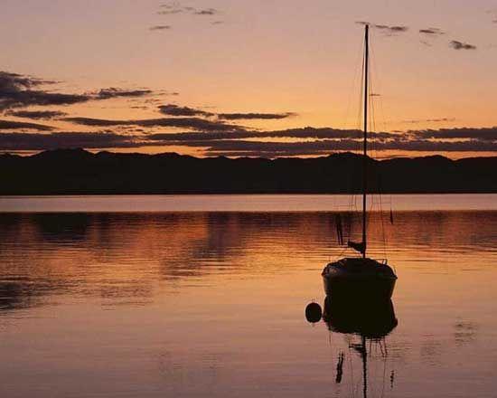 Mar en calma en Salou