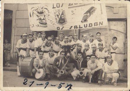 Peña Los Bochos,  en 1957