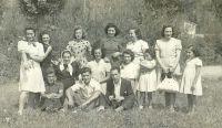 Veraneantes en Valgañón en 1940