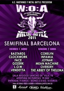 The Abbey of Thelema Metal Battle 2011 Barcelona Wacken 2011