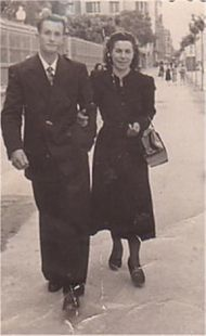 De paseo por El Espolón en 1945