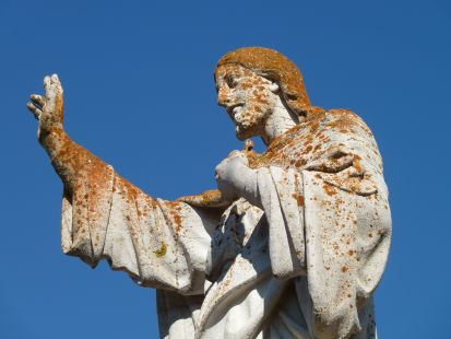 Estado deplorable del Sagrado Corazón de Ortigosa