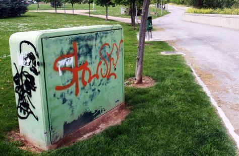 Pintadasde todo tipo en el Parque del Ebro