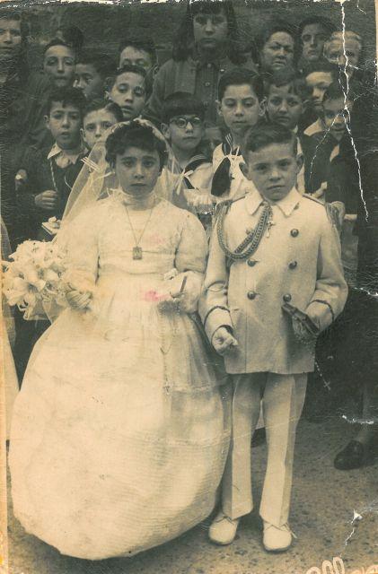 1967, niños de primera comunión en Haro