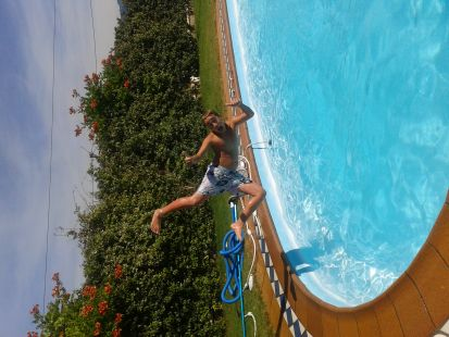 Me tiro a la piscina