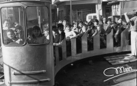 Tren de la Bruja en 1971 en Arnedo
