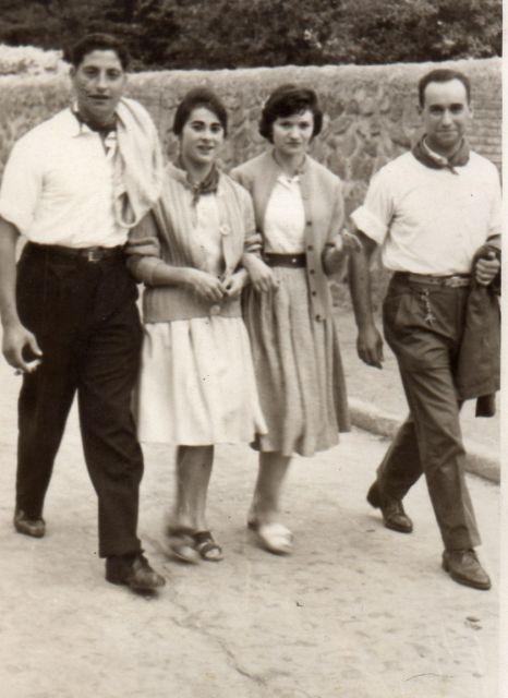 A los toros  en Arnedo  en 1961