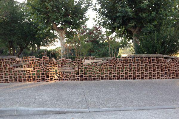 Un supuesto muro con peligro de caída