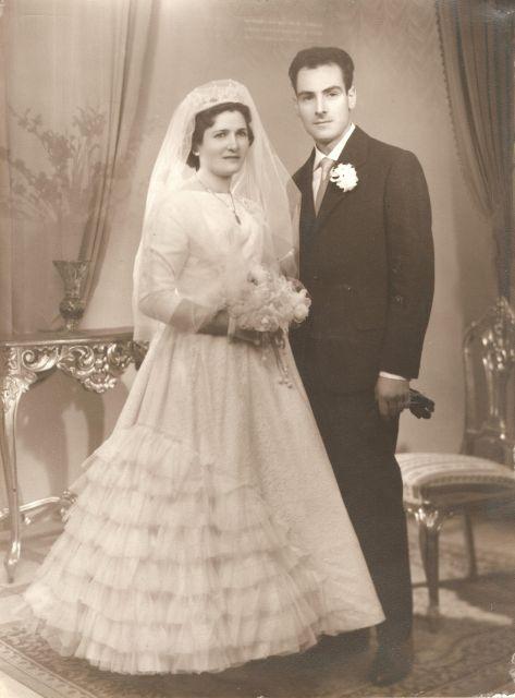 Boda en Aguilar en 1960