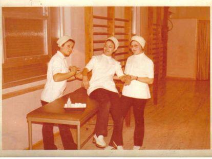 Enfermeras de la policlínica de Clavijo