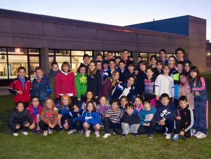 Nadadores del Club Natación Logroño