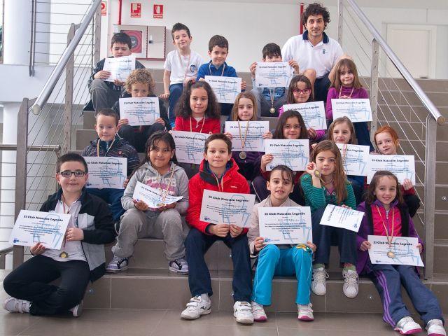 Prebenjamines del Club Natación Logroño