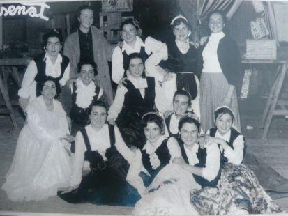 Estudiantes   de Magisterio         en 1954