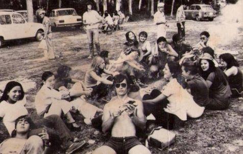 Comida en las choperas del Najerilla, 1972