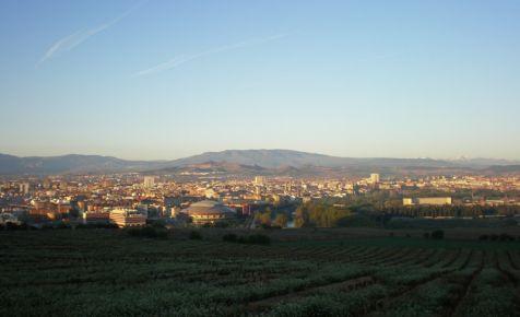 Amanecer en Logroño desde el Monte Cantabria