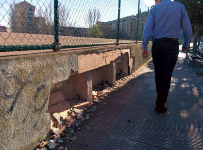Cascotes junto al túnel de Duques de Nájera