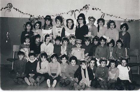 Escolares de Valgañón en 1963