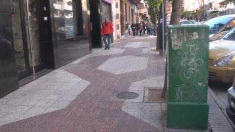 Pintadas en la calle San Antón