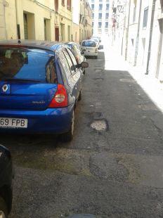 Baches en la calle San Gil de Logroño