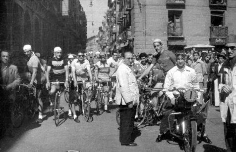 Ciclistas de Logroño en 1955