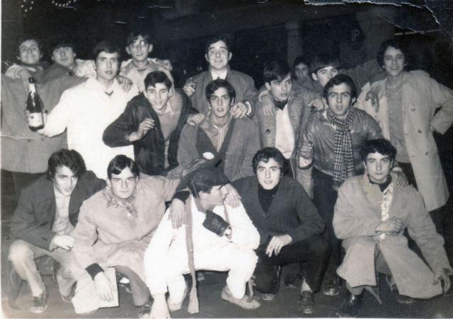 Cuadrilla de amigos en Haro en 1967