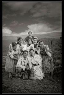 Jóvenes de Valgañón en 1953