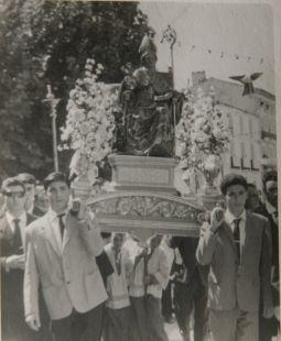 Procesión de San Gil en Cervera en los 60