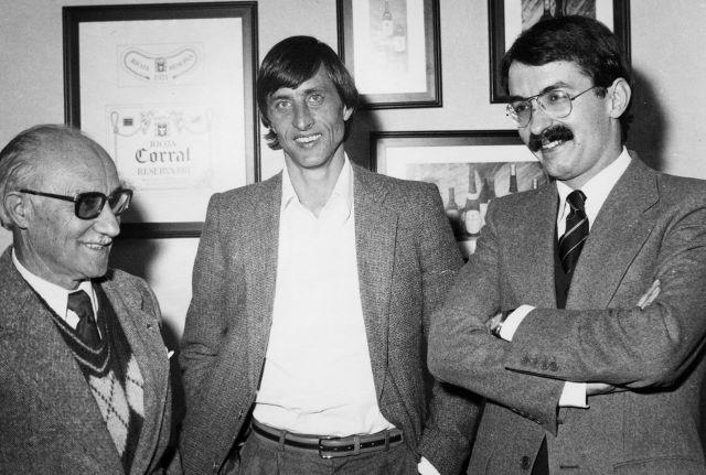 Visita de Cruyff a una bodega riojana