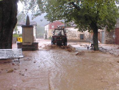 Inundaciones en Ojacastro en el 2003