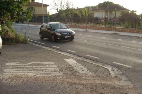 Señal de stop peligrosa en Haro