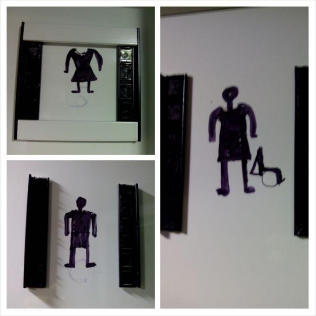 Dibujos en lugar de placas en el San Pedro