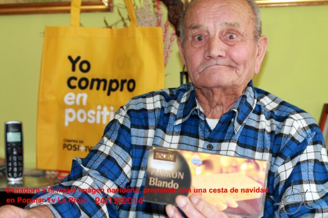 Titulo: Francisco 89 años, esperando la navidad y un próspero año nuevo.