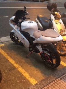 La moto abandonada de hello kity